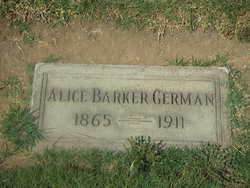 Alice <i>Barker</i> German