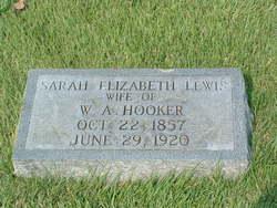 Sarah Elizabeth <i>Lewis</i> Hooker