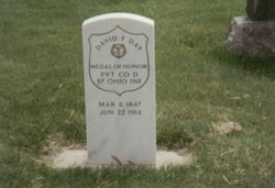 David F. Day's grave, picture courtesy of Find A Grave