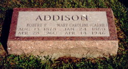 Mary Caroline Carrie <i>Jones</i> Addison