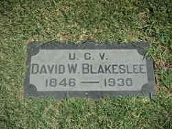 Pvt David Woodward Blakeslee