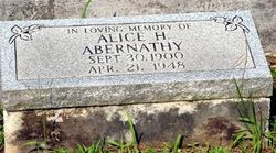 Alice <i>Howell</i> Abernathy
