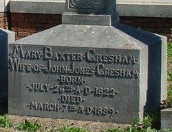 Mary <i>Baxter</i> Gresham