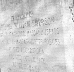 Rev William Emerson
