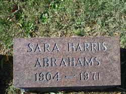 Sarah <i>Harris</i> Abrahams