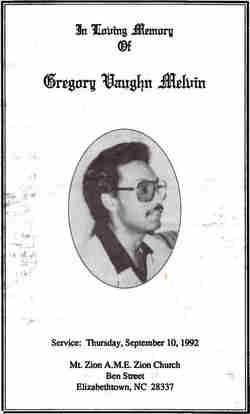 Gregory Vaughn Melvin