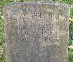 Eliza Ann Louisa <i>Morgan - Brown - Jones - Nicholas -</i> Rich