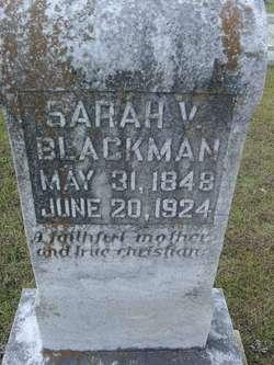 Sarah V. <i>Tanner</i> Blackman
