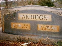 Clemmie <i>Jowers</i> Akridge