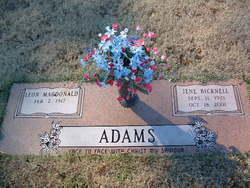 Jene <i>Bicknell</i> Adams