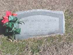 Mary <i>Morrison</i> Green