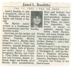 Janet L Boothby