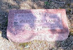 Mary Alice <i>Harris</i> Lane