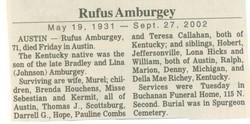 Rufus Amburgey