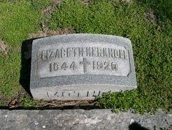 Elizabeth <i>Zink</i> Kerkhoff