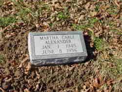 Martha <i>Cable</i> Alexander