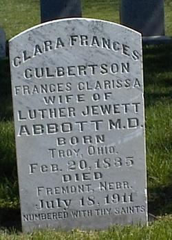 Clara Frances <i>Culbertson</i> Abbott