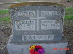 Anna Marie <i>Oefinger</i> Balzen