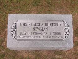 Mrs Lois Rebecca Becky <i>Burford</i> Newman