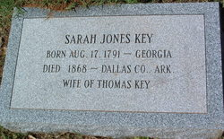 Sarah R Sally <i>Jones</i> Key