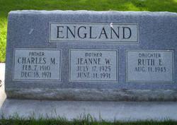Jeanne W <i>Grover</i> England