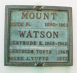 Gertrude <i>Mount</i> Tufts