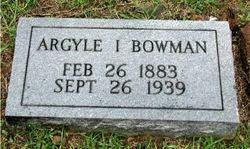 Argyle Ister Bowman