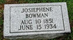 Josephine <i>Jacobs</i> Bowman