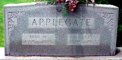 Jane W. Janie <i>Wright</i> Applegate