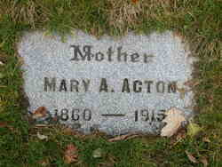 Mary A Acton