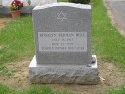 Rosalyn <i>Berman</i> Berg