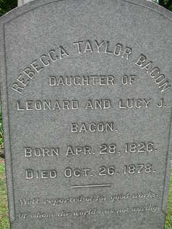 Rebecca <i>Taylor</i> Bacon