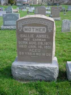 Sarah (Sallie) <i>Garman</i> Ansel