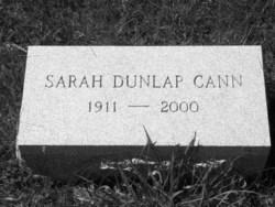 Sarah Dunlap Cann