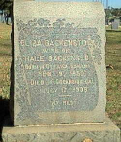 Eliza Backensto