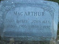 Sarah Sally Jameson <i>Badley</i> MacArthur