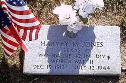 PFC Harvey Monroe Jones