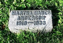Martha <i>Hanes</i> Anderson