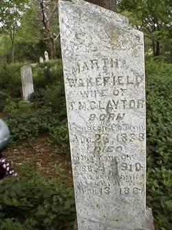 Martha <i>Wakefield</i> Claytor