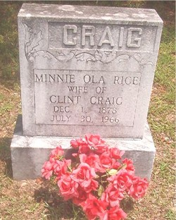 Minnie Ola <i>Rice</i> Craig