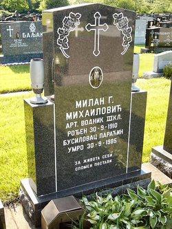 Milan G. Mihailovich