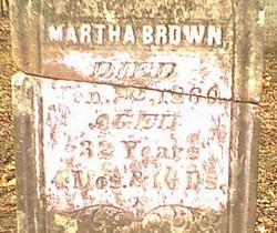 Martha <i>Whitworth</i> Brown