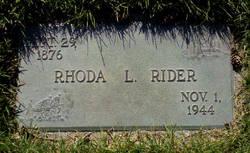 Rhoda Laura <i>Jensen</i> Rider