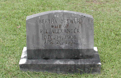 Bertha <i>Brewer</i> Alexander