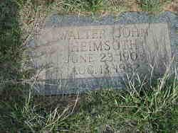 Walter John Heimsoth