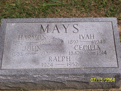 Iva Belle <i>Moyer</i> Mays