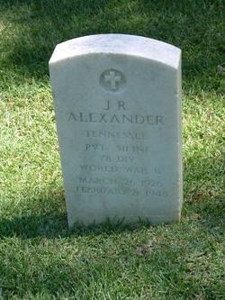 Pvt J. R. Alexander