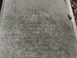 Mary Ann <i>Stout</i> Baker