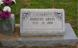 Dorothy <i>Abney</i> Abney
