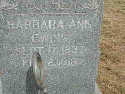 Barbara Ann Josephine <i>Morris</i> Cornelius Ewing